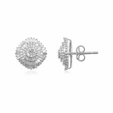 jcpenney.com | Diamond Blossom 3/4 CT. T.W. Round White Diamond 10K Gold Stud Earrings