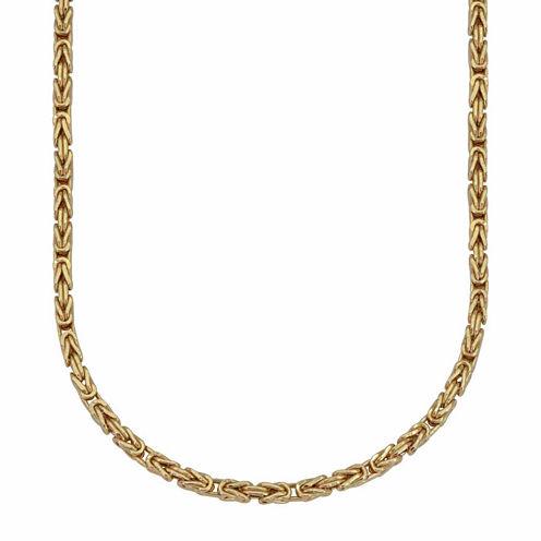 18K Yellow Gold 060 Gauge Byzantine Chain Necklace