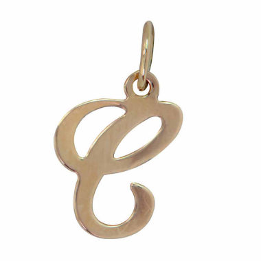 jcpenney.com | Personalized 14K Yellow Gold Initial C Pendant Necklace