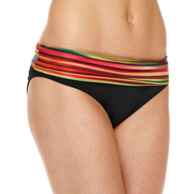 jcpenney.com | a.n.a® Striped Ombre Foldover Hipster Swim Bottoms