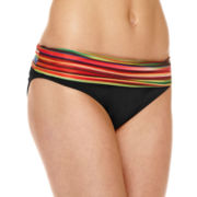 a.n.a® Striped Ombre Foldover Hipster Swim Bottoms