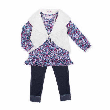 jcpenney.com | Little Lass Girls Legging Set-Toddler