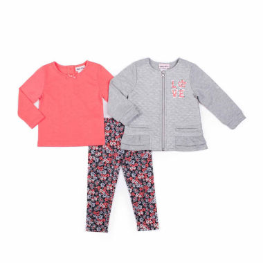 jcpenney.com | Little Lass Girls Legging Set-Preschool