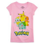 Pokemon Girls Pokemon Graphic T-Shirt Plus-Big Kid