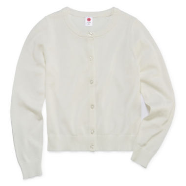 jcpenney.com | Total Girl Long Sleeve Sweater Knit Cardigan - GIRLS 7-16 AND PLUS