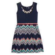 Beautees Skater Dress - Big Kid 7-20