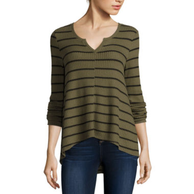 jcpenney.com | Arizona Long-Sleeve Waffle Swing Top - Juniors