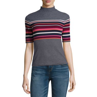 jcpenney.com | Arizona Elbow-Sleeve Mockneck Top - Juniors
