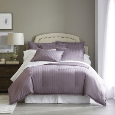 jcpenney.com | Royal Velvet® 400tc Damask Stripe Cotton Comforter Set & Accessories