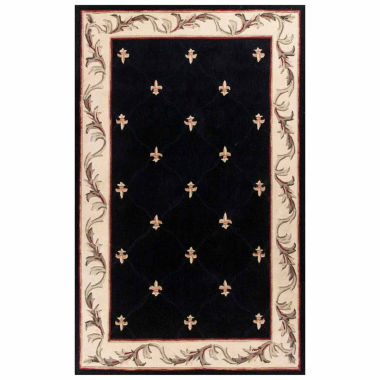 jcpenney.com | Fleur de Lis Hand-Carved Wool Rectangular Rug