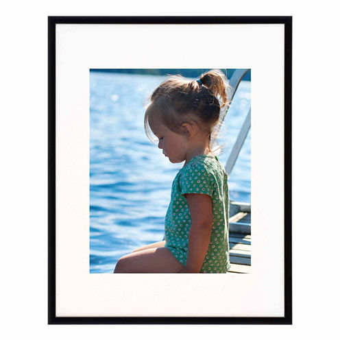 "Artcare 11x14"" Studio Matte Black Wall Frame, Matted To 8x10"""