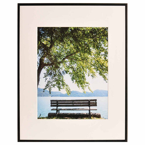 """Artcare 16x20"""" Studio Matte Black Wall Frame, Matted To 11x14"""""""