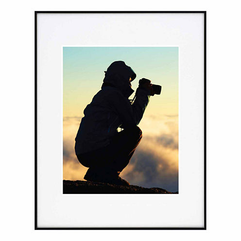 """Artcare 11x14"""" Photography Aluminum Wall Frame, Matted To 8x10"""""""