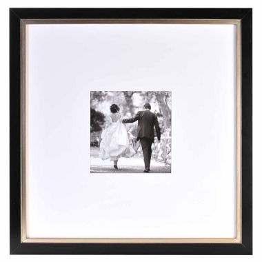"jcpenney.com | Artcare 20x20"" Taylor Black & Gold Wall Frame, Matted To 8x8"""