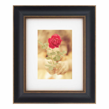 "jcpenney.com | Artcare 8x10"" Tuscan Black & Gold Wall Frame, Matted To 5x7"""