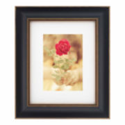 "Artcare 8x10"" Tuscan Black & Gold Wall Frame, Matted To 5x7"""