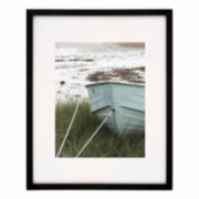 "Artcare 16x20"" Tribecca Matte Black Frame, Matted To 11x14"""