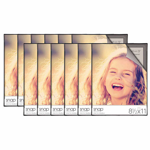 """Snap 8.5x11"""" Front Loading Document Frame- Set of12"""""""