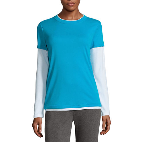 Made For Life Long Sleeve Crew Neck T-Shirt-Womens Talls