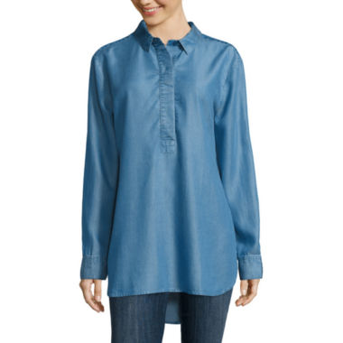 jcpenney.com | Liz Claiborne® Long-Sleeve Popover Tunic