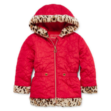 jcpenney.com | Pistachio Heart Quilted Jacket - Toddler Girls 2t-5t