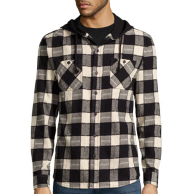jcpenney.com | Union Bay® Long-Sleeve Grant Flannel Hoodie