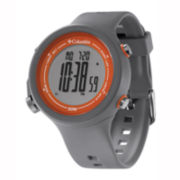 Columbia Sportswear Co.® Recruit Mens Gray Silicone Chronograph Sport Watch