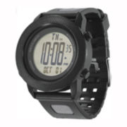Columbia Sportswear Co.® Basecamp Mens Black Silicone Chronograph Sport Watch