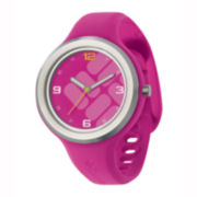 Columbia Sportswear Co.® Escapade Womens Pink Silicone Strap Watch
