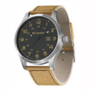 Columbia Sportswear Co.® Fieldmaster II Mens Brown Canvas Strap Watch