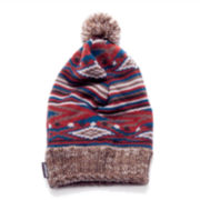 MUK-LUKS® Striped Fair Isle Pom-Pom Beanie