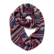 MUK-LUKS® Striped Fair Isle Eternity Scarf