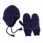 MUK-LUKS® Sprinkled Snowflake Hat and Mittens Set