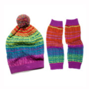 MUK-LUKS® Ombré Cable Beanie and Arm Warmers Set