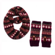 MUK-LUKS® Traditional Eternity Scarf and Arm Warmers Set