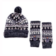 MUK-LUKS® Traditional Hat and Arm Warmers Set