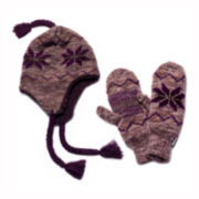 MUK-LUKS® Snowflake Tassel Hat and Mittens Set