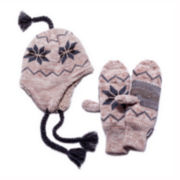 MUK-LUKS® Snowflake Tassel Hat and Mittens Set