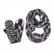 MUK-LUKS® Knit Scarf and Mittens Set