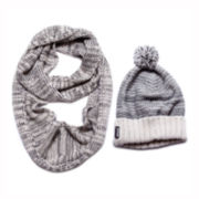 MUK-LUKS® Solid Cuffed Hat and Scarf Set