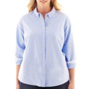 jcp™ Long-Sleeve Oxford Shirt - Plus