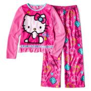 Hello Kitty® 2-pc. Long-Sleeve Pajama Set - Girls 4-10