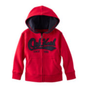 OshKosh B'gosh® Zip-Front Heritage Fleece Hoodie – Boys 2t-4t