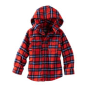 OshKosh B'gosh® Flannel Shirt with Hood – Boys 2t-4t