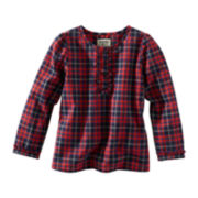 OshKosh B'gosh® Long-Sleeve Button-Front Plaid Shirt – Girls 2t-4t