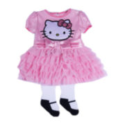 Hello Kitty® 2-pc. Short-Sleeve Dress and Tights Set – Girls newborn-9m