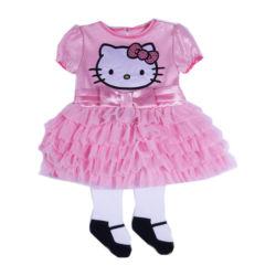 Hello Kitty® 2-pc. Short-Sleeve Dress and Tights Set – Girls newborn-9m