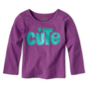 Okie Dokie® Long-Sleeve Knit Top - Girls 12-24m