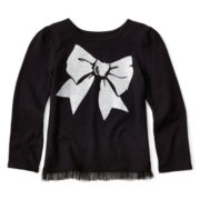 Okie Dokie® Long-Sleeve Tulle Tee - Girls 2t-6