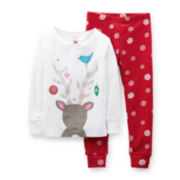 Carter's® 2-pc. Long-Sleeve Christmas Pajama Set – Girls 12m-24m
